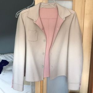 WEEKEND MAX MARA reversible wool coat pink/beige